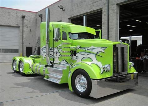 green paint sles lime green k whopper one fine custom semi truck