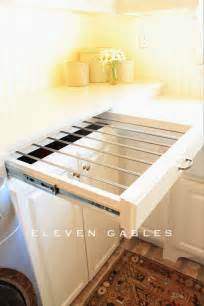 Pull Out Clothes Dryer Diy Slide Out Drying Rack Laundry Room Decoration Loft