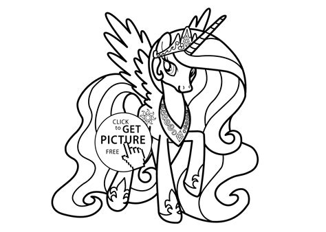 Princesse Celestia Coloring Page For Girls Printable Princess Celestia Coloring Free Coloring Sheets