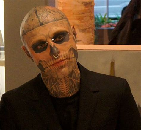 skeleton man tattoo tattooed quot boy quot wows mugler fashion show hong