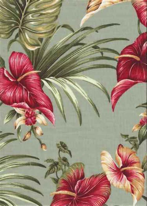 tropical upholstery lina barkcloth hawaii fabrics vintage style hawaiian