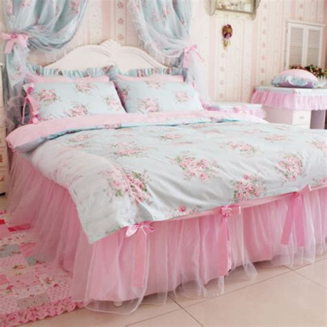 Pajamas Bedding Flowers Girly Bedding Kawaii Home Girly Bedding Sets