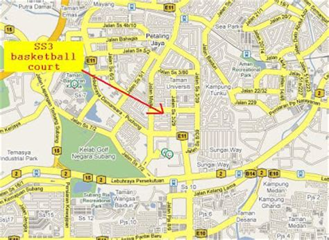 petaling jaya map guide to malaysia ss3 petaling jaya community aerobic