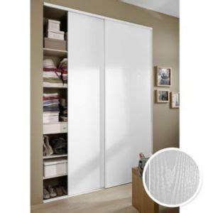 cadenas code bricorama 2 portes de placard blizz blanc vein 233 250 x 150 cm castorama