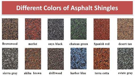 asphalt color different colors of asphalt shingles asphaltshingles