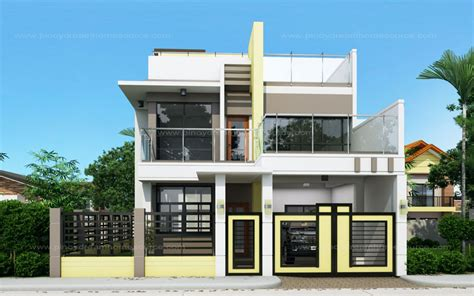 Bungalow Home Interiors by Prosperito Single Attached Two Story House Design With