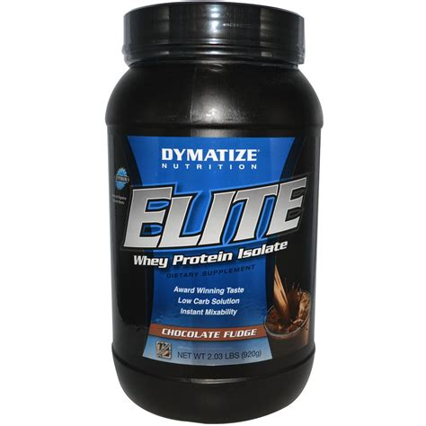 dymatize nutrition elite whey protein isolate chocolate fudge 2 03 lbs 920 g iherb