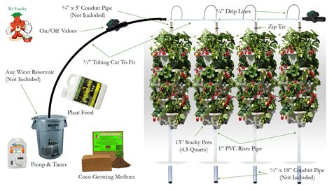 diy vertical hydroponic  tower kit