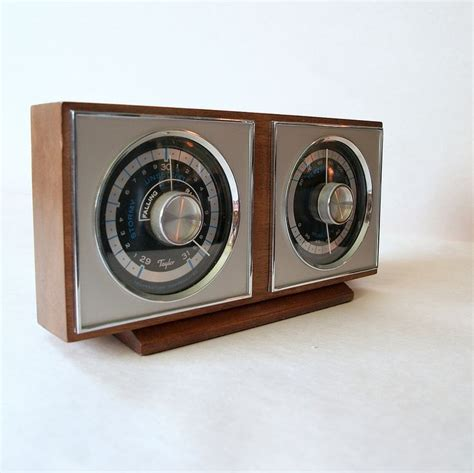 Vintage Weather Station Mid Century Modern 1960 Vintage Desk Accessories