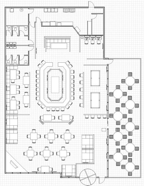 restuarant floor plan open kitchen restaurant layout kitchen design ideas