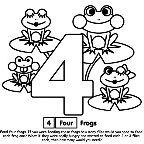 Number 4 Coloring Page Printable by Coloring Pages For Number Four Quot 4 Quot Coloring Pages