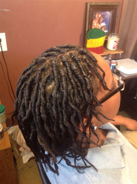 starting dread locs mediun length hair starter natural loc services