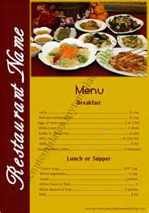 Hotel Menu Layout | indian restaurant menu card sles