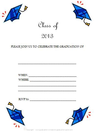 Graduation Invitation Templates Free Printable free printable graduation invitations great free templates