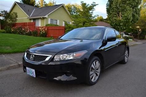 how petrol cars work 2009 honda accord electronic toll collection buy used 2009 honda accord black coupe automatic 2 door 2 4l gas savier clean in and out in