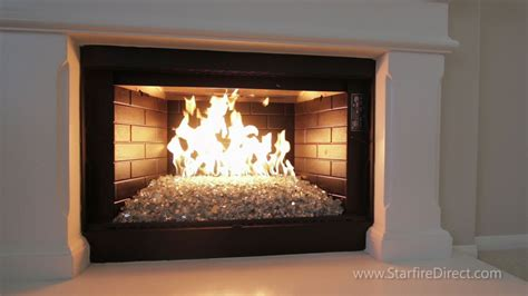 glass fireplace how to install an h burner and glass in your