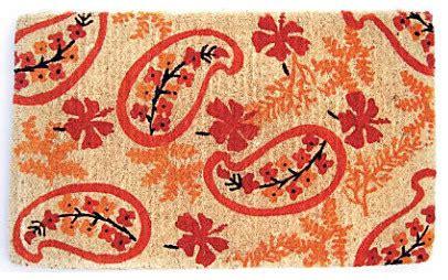 paisley rubber st paisley coir doormat contemporary doormats by