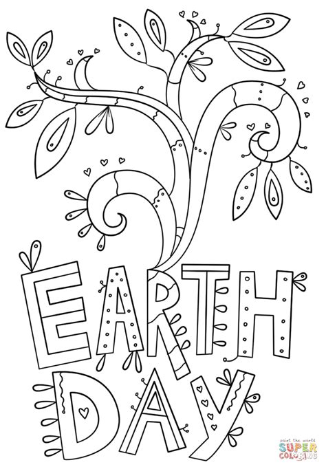 earth day coloring sheets earth day doodle coloring page free printable coloring pages
