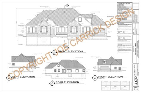 exle plan set custom home design joe carrick design