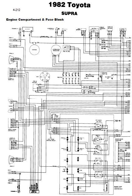 toyota supra  wiring diagrams  guide  manuals