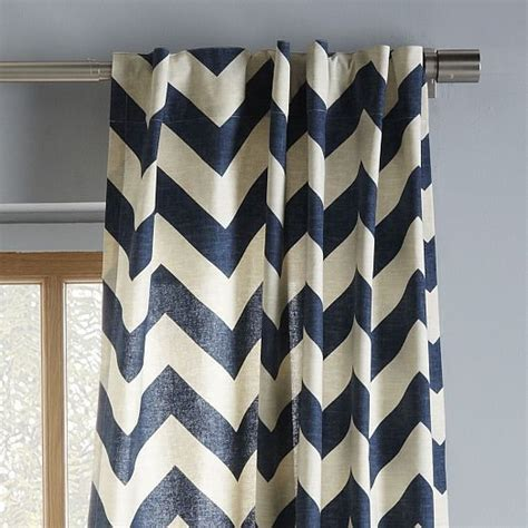 West Elm Zigzag Curtain Inspiration Cotton Canvas Zigzag Curtain Blue Lagoon Cotton Canvas Colors And Hallways