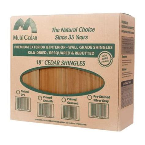 grooved cedar sidewall shingles 234514 the home depot