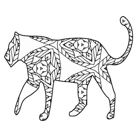 geometric elephant coloring pages 30 free coloring pages a geometric animal coloring