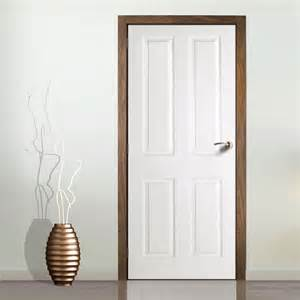 Modern Door Knockers cadeby 4 panel door woodgrained effect primed door sale
