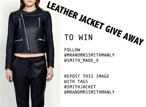 Mr Gives Away His Novel by Mr And Mrs Smith Leather Jacket Give Away