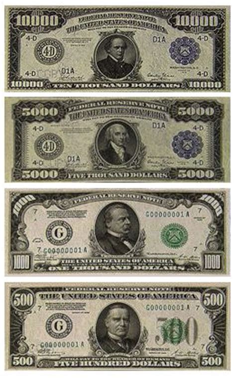 Who Makes The Paper For Us Currency - large denominations of united states currency large