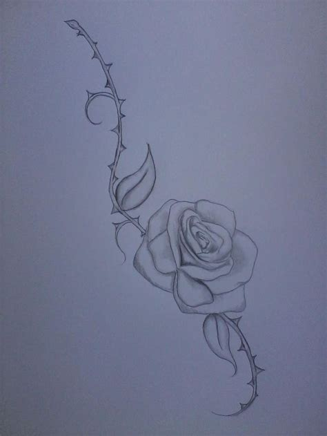 rose with thorns tattoo tattoos wrist thighs design