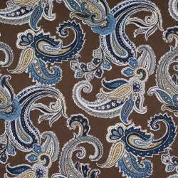 Paisley Curtains Blue Navy Blue Paisley Cotton Upholstery Fabric Blue Brown Paisley Pleated Curtains Modern