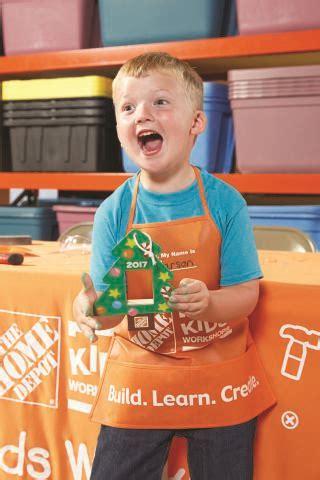 home depot kid craft home depot free workshops december 2 2017