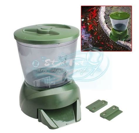 Feeder Fish Food gross green automatic aquarium digital tank pond fish food