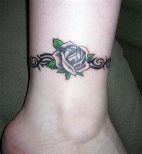 rose band tattoo flower tattoos page 8
