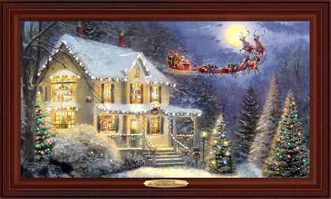kinkade lighted pictures wall decor by kinkade and some other artists