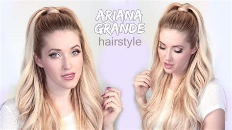 how to do the grande hairstyle ariana grande hair tutorial half ponytail hairstyle with
