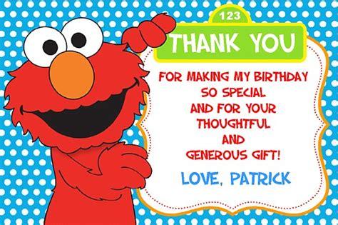 Elmo Thank You Cards elmo thank you cards personalized