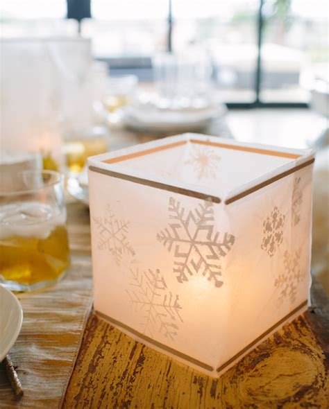 How To Make Wax Paper Lanterns - diy wax paper snowflake lanterns camille styles