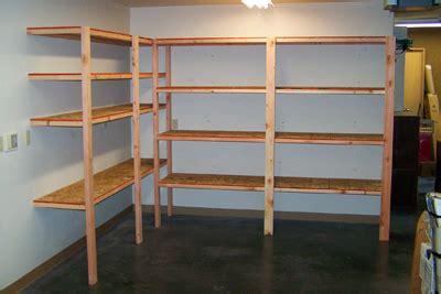 angle iron garage shelves