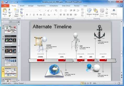 Roadmap Powerpoint Template Animated Timeline Maker