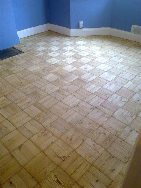 before and after photos of parquet floor sanding in sydenham