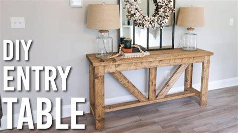 diy farmhouse style entry table youtube