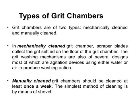 design criteria for grit chamber water treatment processes