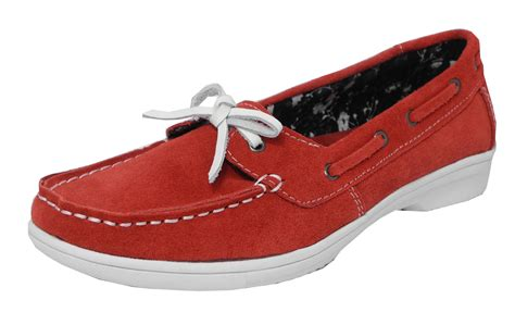 loafers size 4 womens real suede leather boat deck shoes loafers