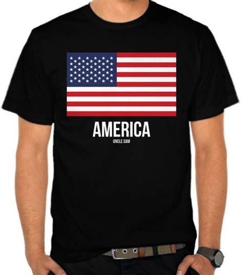 Kaos Amerika Flag jual kaos bendera amerika america satubaju