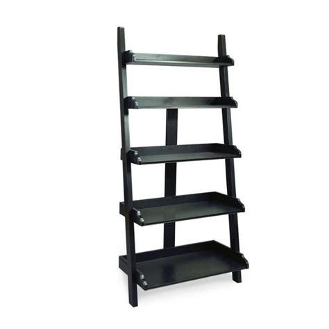 black ladder bookcase camden black ladder wall storage bookcase display leaning backless shelf ladder ebay