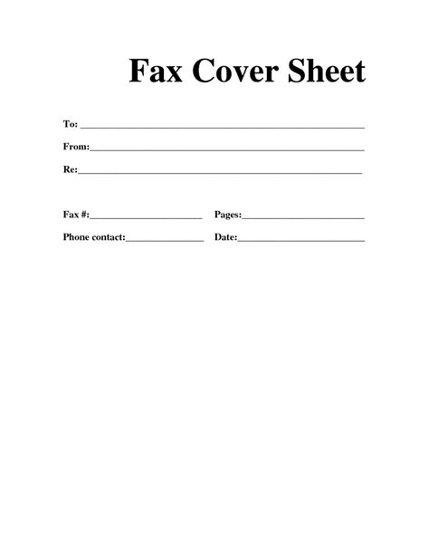 Printable Fax Cover Sheet Template free fax cover sheet template printable