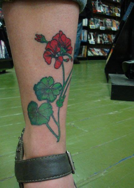geranium tattoo designs geranium search tattoos
