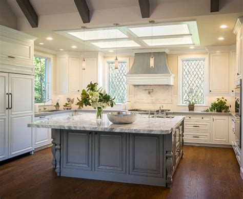 white cabinets gray island 1000 ideas about gray island on kitchens